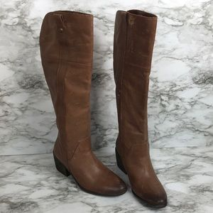 Mordona Vince Camuto brown leather boots size 8